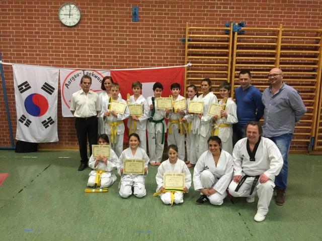 Gurtprüfungen bei Aargau-Taekwondo